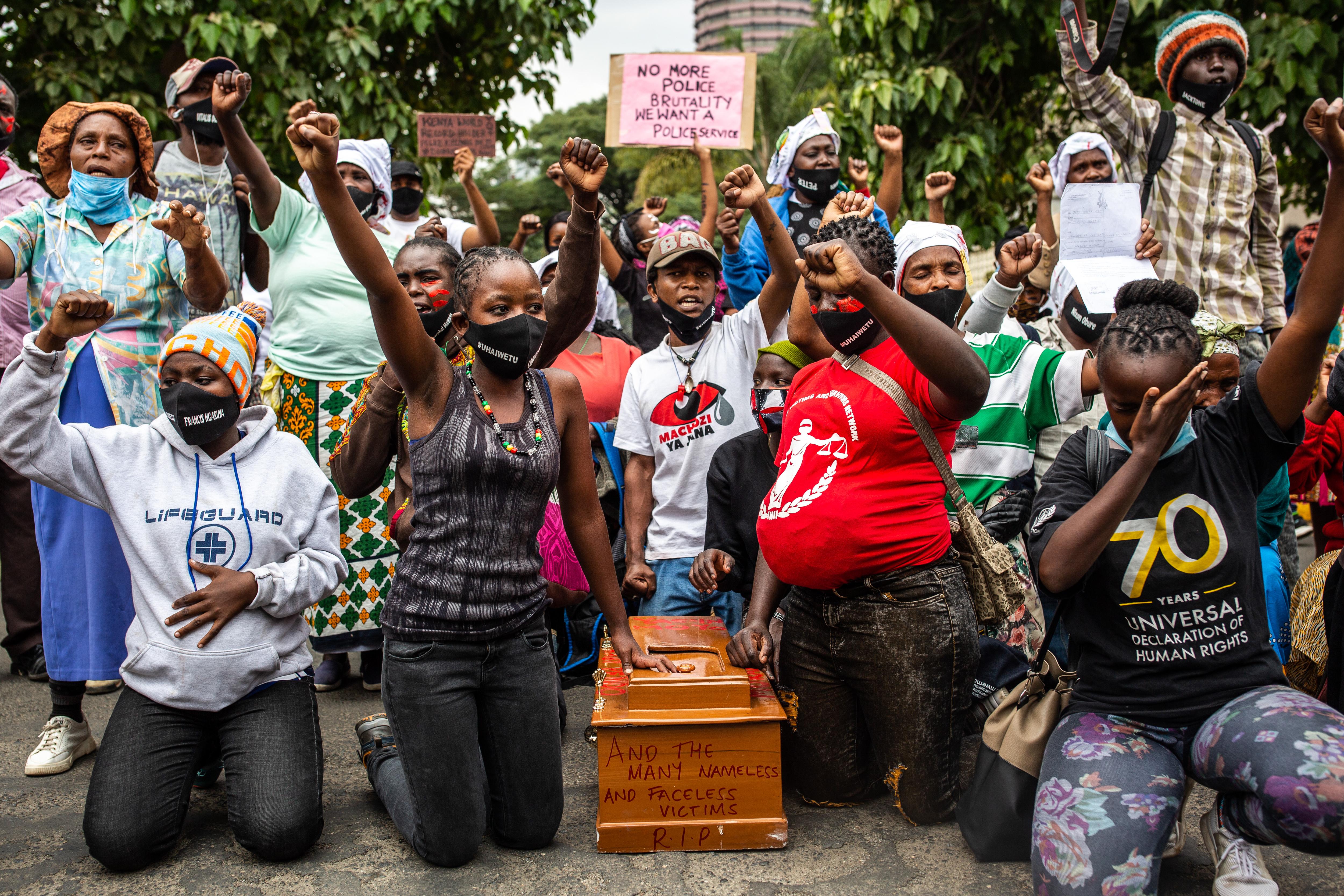 A kenyai rendőrség lelőtt három embert egy durva túlkapásban