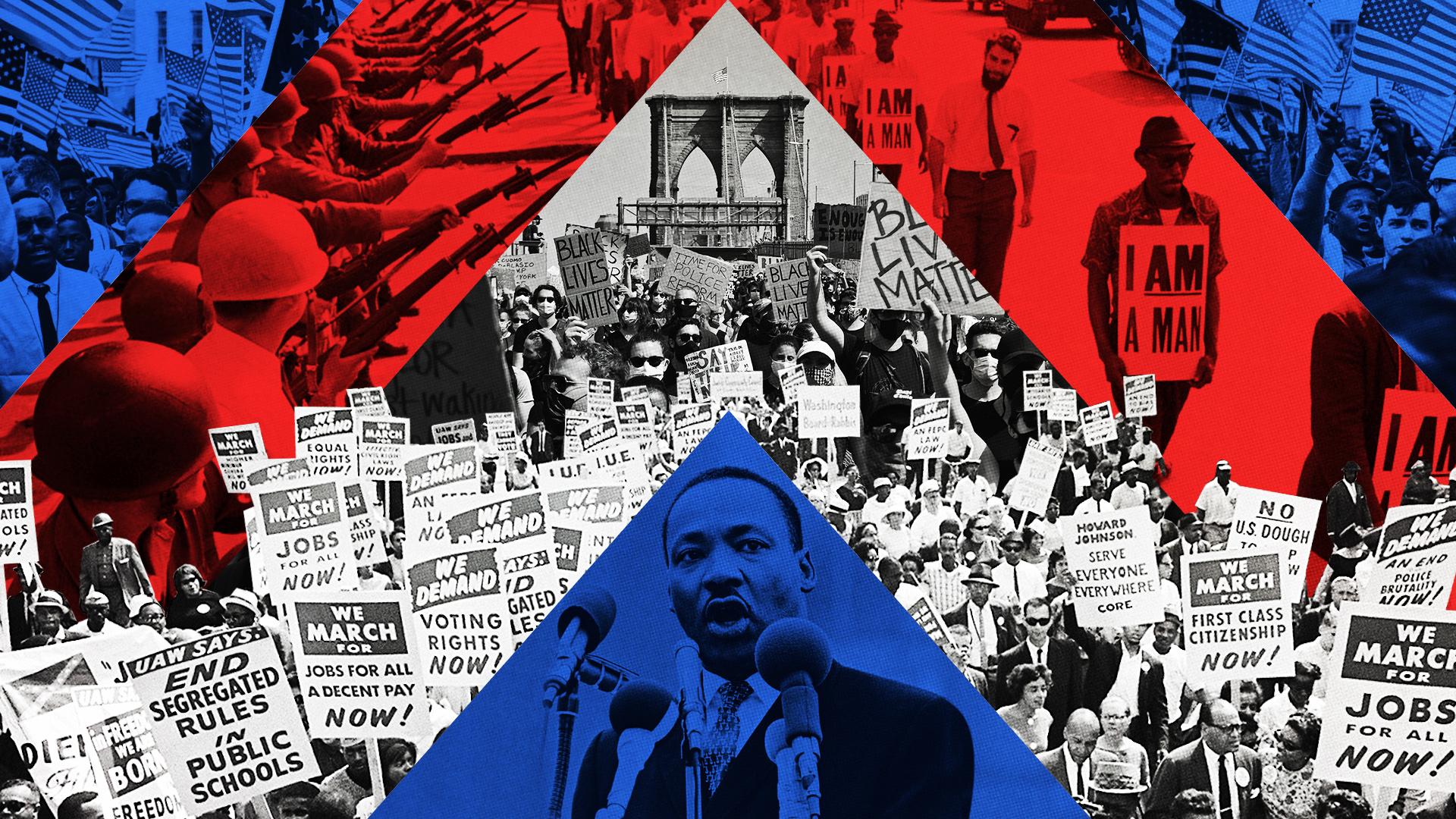 A történelem nem a múlt, hanem a jelen, és most lángra lobbantotta Amerikát