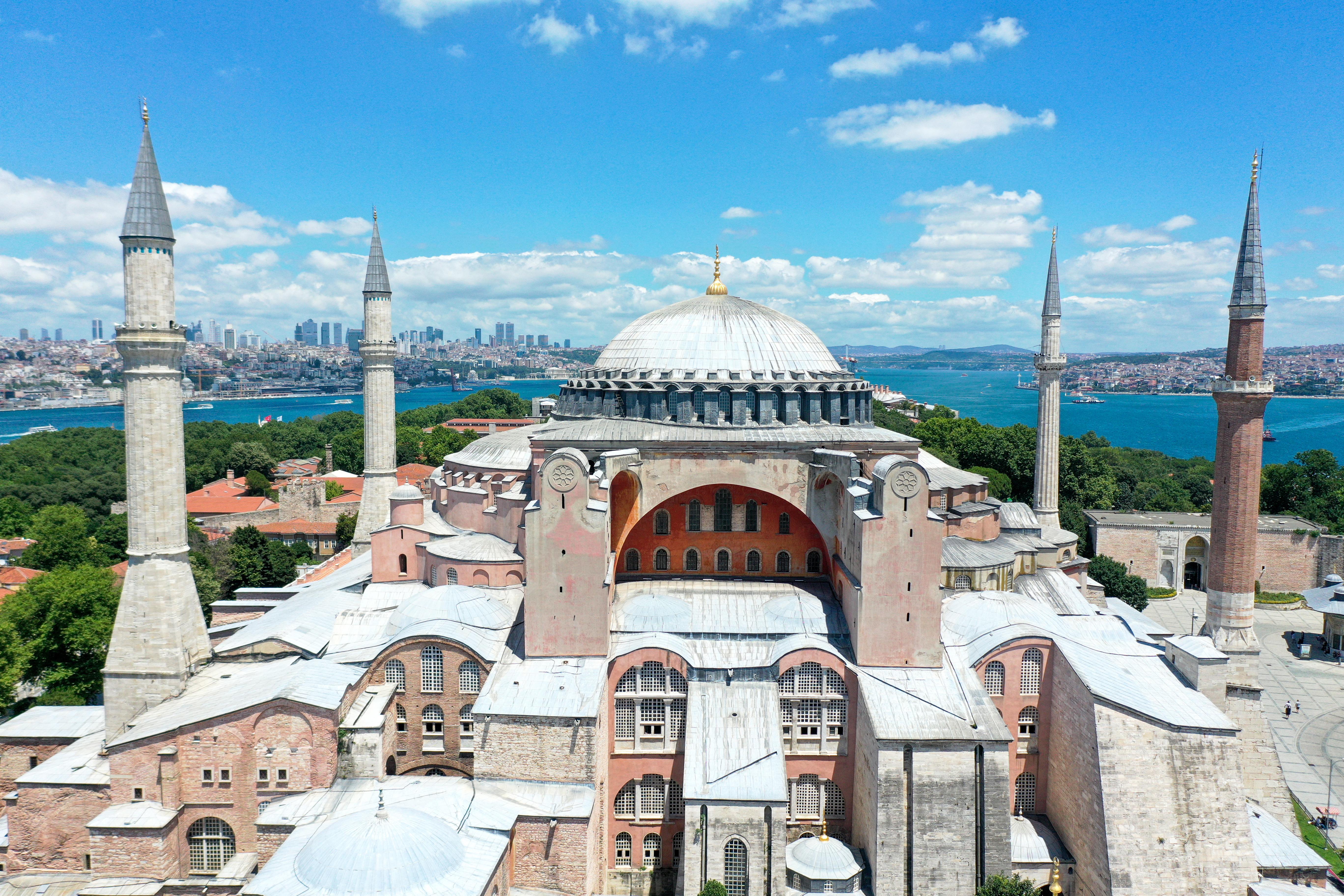Pénteken már mecsetként nyílik meg az isztambuli Hagia Sophia székesegyház