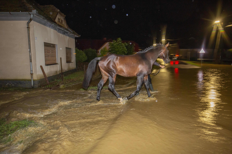 20 embert kellett kitelepíteni Zalában a hatalmas eső miatt