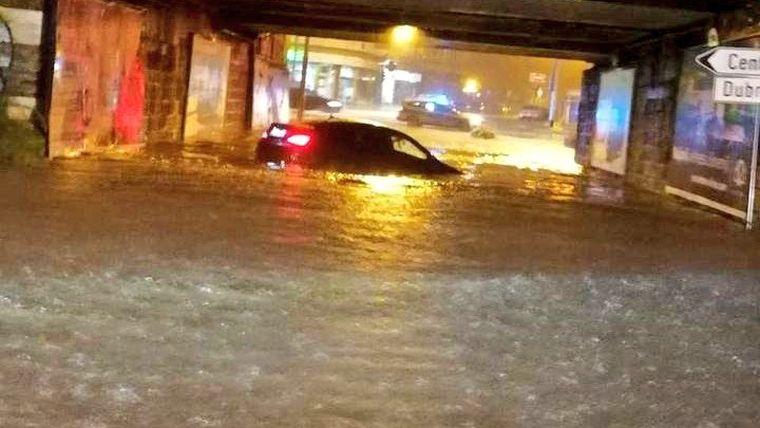 Zágráb belvárosát elöntötte a víz