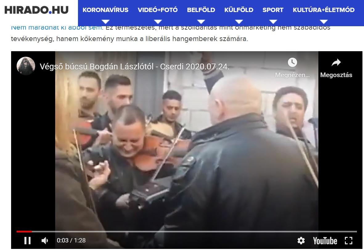 A közmédia egy 2014-es, balkáni videóról állította azt, hogy az Bogdán László temetésén készült
