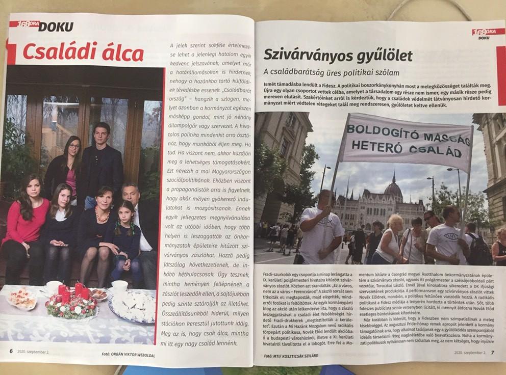 Kirúgták a 168 Óra főszerkesztőjét egy Orbán Viktor családját ábrázoló fotó miatt