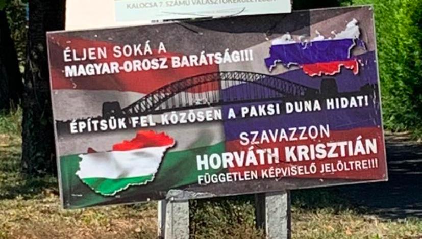 """6 szavazatot kapott az """"Éljen soká a magyar-orosz barátság!!!"""" szlogennel kampányoló jelölt Kalocsán"""
