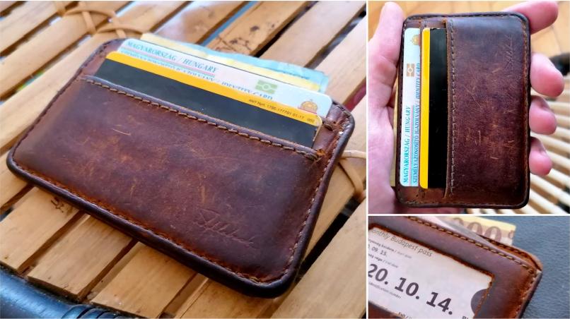 Barna bőr pénztárca 94 év garanciával sürgősen eladó