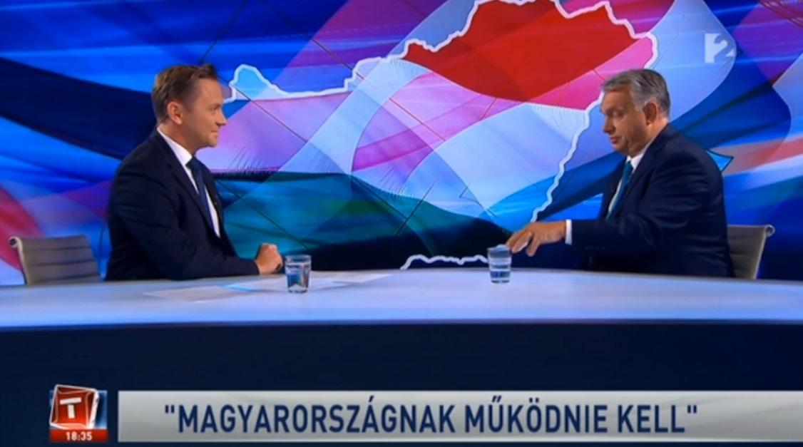 """""""Az út, amin járunk jó, de nem könnyű"""" - szegezte a kérdést Orbán Viktornak a TV2 műsorvezetője"""