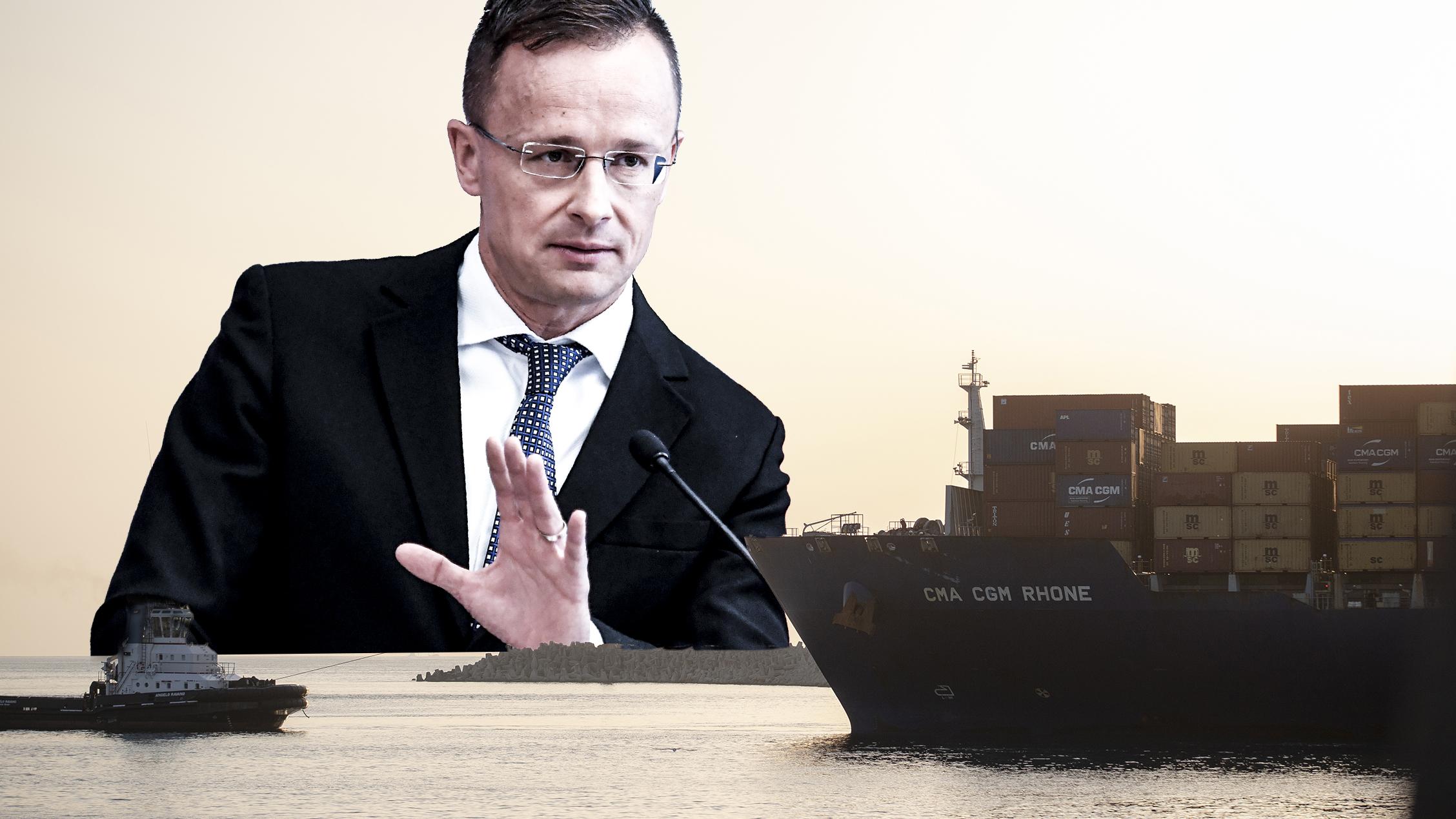 Egy éve jelentette be Szijjártó, de még mindig sehol a magyar tengeri kijárat