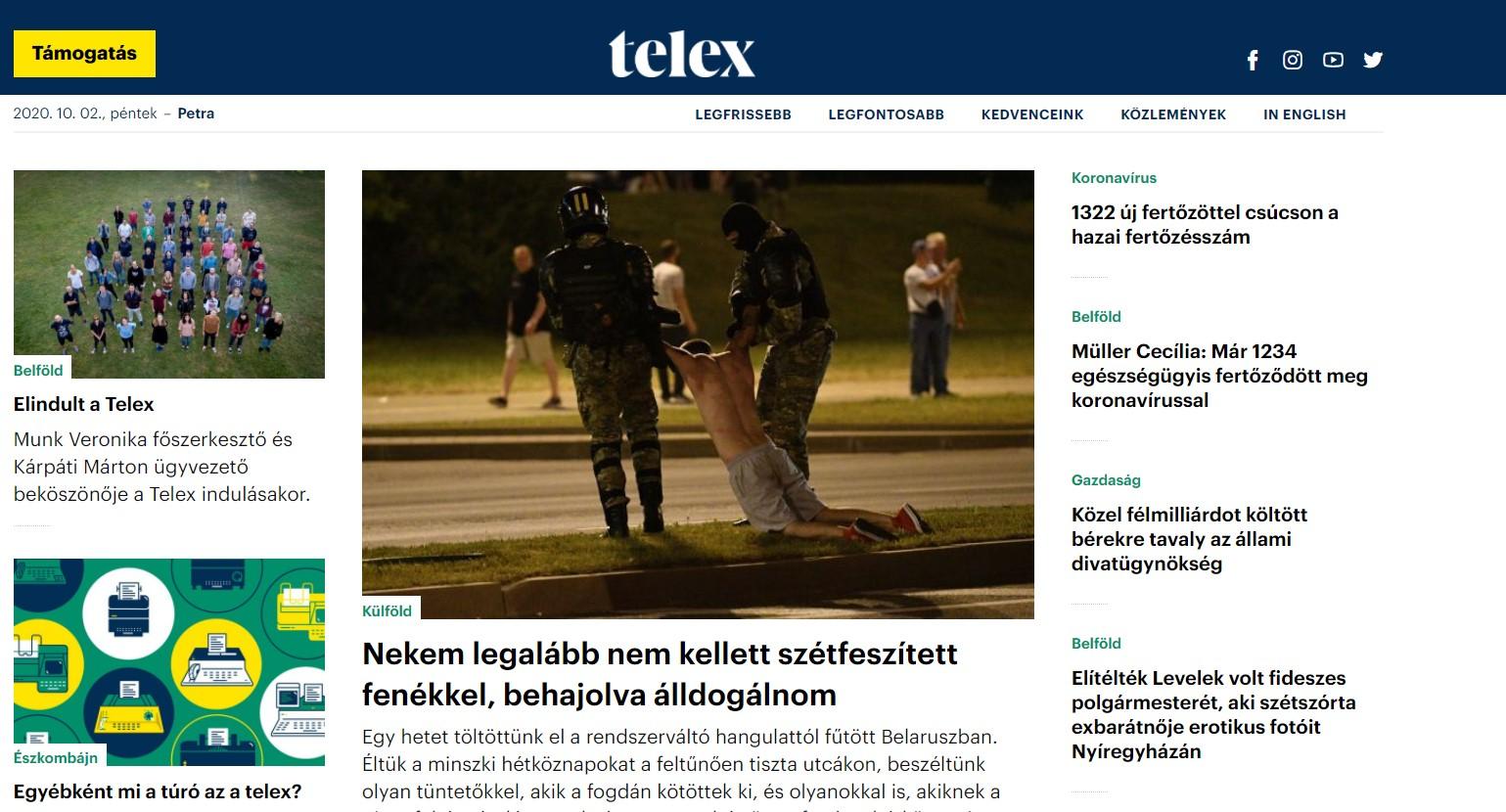 Elindult a Telex
