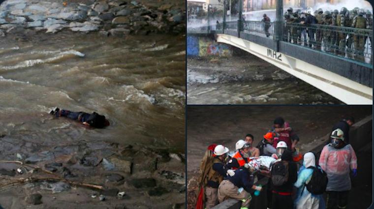 Fogta a 16 éves fiút a chilei rohamrendőr és egyszerűen ledobta a hídról