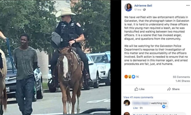 Egymillió dolláros kártérítést kér az a fekete férfi, akit lóháton ülő fehér rendőrök kötélre kötve vezettek át egy texasi város utcáin