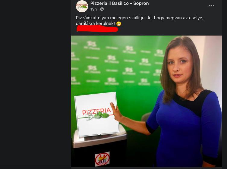 Reklám formájában dolgozta fel Dúró Dóra könyvdarálását egy soproni pizzéria