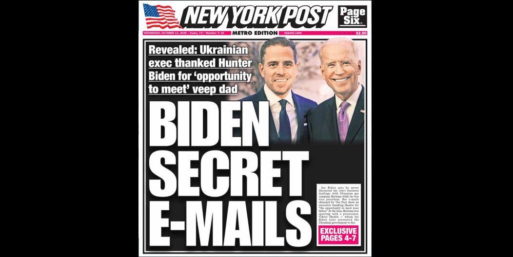 Gyanús sztorival támadja Joe Bident a trumpista NY Post