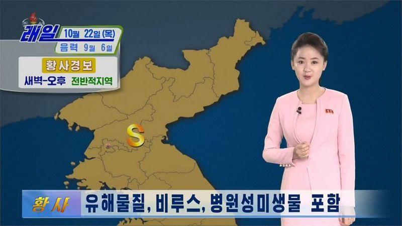 """Észak-Koreában figyelmeztették a lakosságot, hogy maradjanak bent, mert """"sárga por"""" jön Kína felől"""
