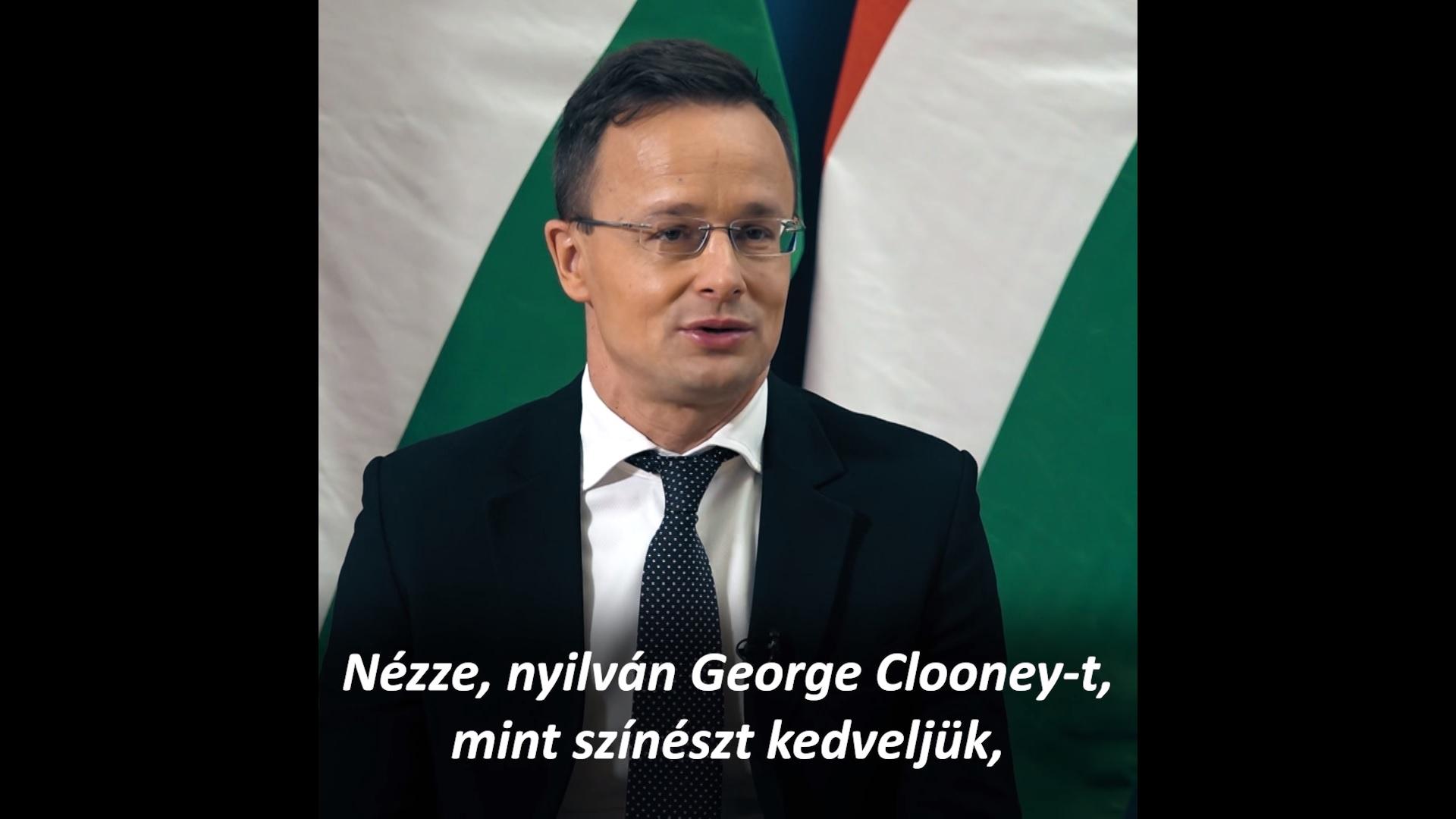 Szijjártó: Szeretjük George Clooney-t