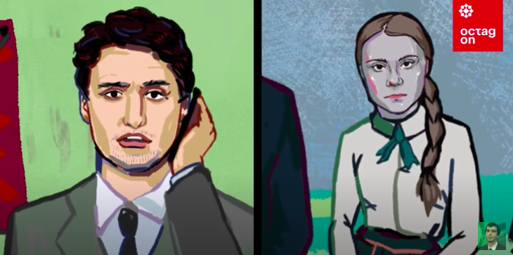 Orosz humoristák telefonbetyárkodtak Justin Trudeau-val, aki végig azt hitte, Greta Thunberggel beszél