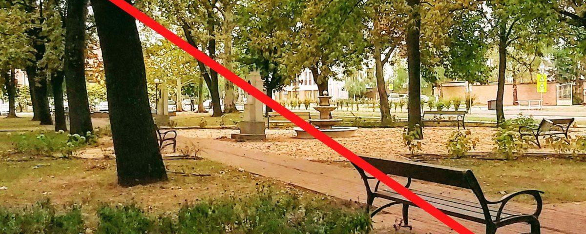"""Sándorfalván """"leülésre alkalmatlanná"""" teszik a padokat, hogy így lassítsák a járvány terjedését"""