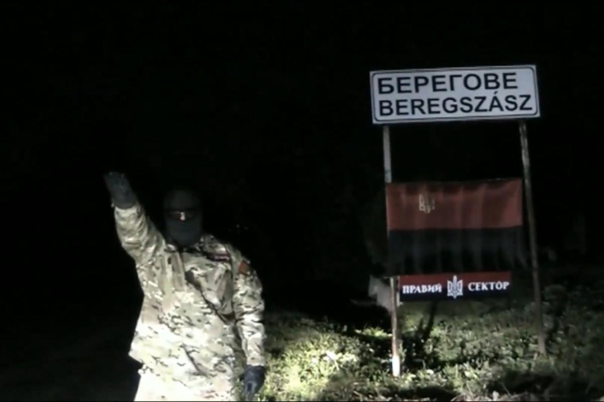 Ukrán neonáci fenyegette a kárpátaljai magyarokat Beregszász határában