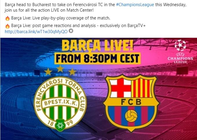 A Barcelona útnak indul Bukarestbe, mármint Budapestre