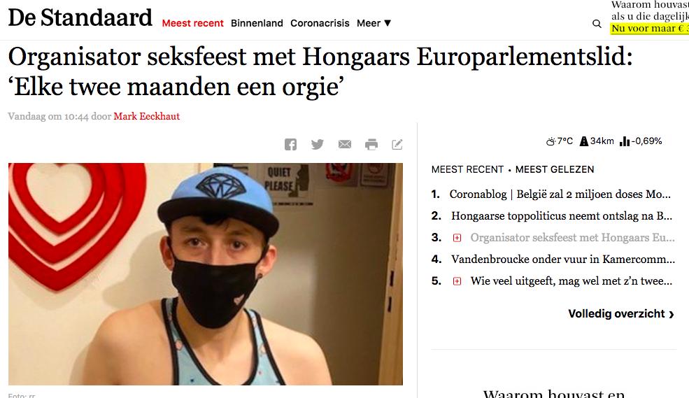 A buli házigazdája szerint Szájer azt mondta neki, hogy ő is rendezett már szexpartit a saját lakásában