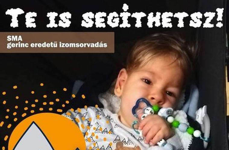 Benedek Tibor által dedikált labdára licitálva segíthetnek egy SMA-ban szenvedő kisgyereken