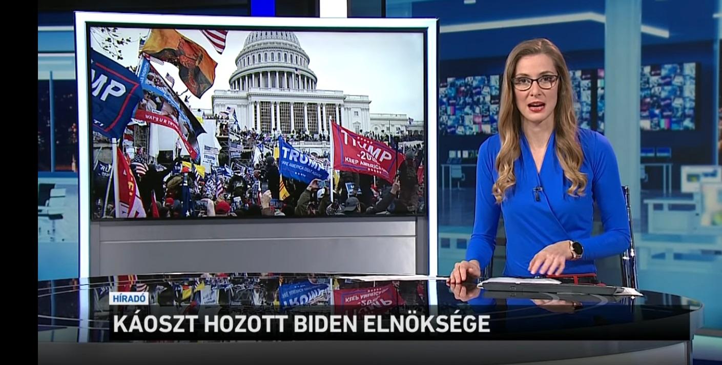 Bident még be sem iktatták, a magyar közmédia máris az ő elnökségét okolja a káoszért