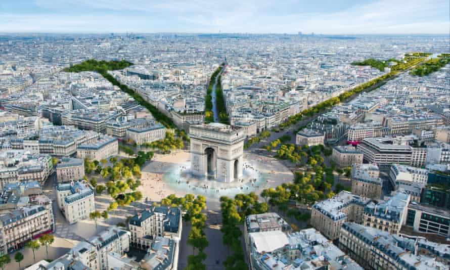 250 millió eurót költenek Párizsban a Champs-Élysées kizöldítésére