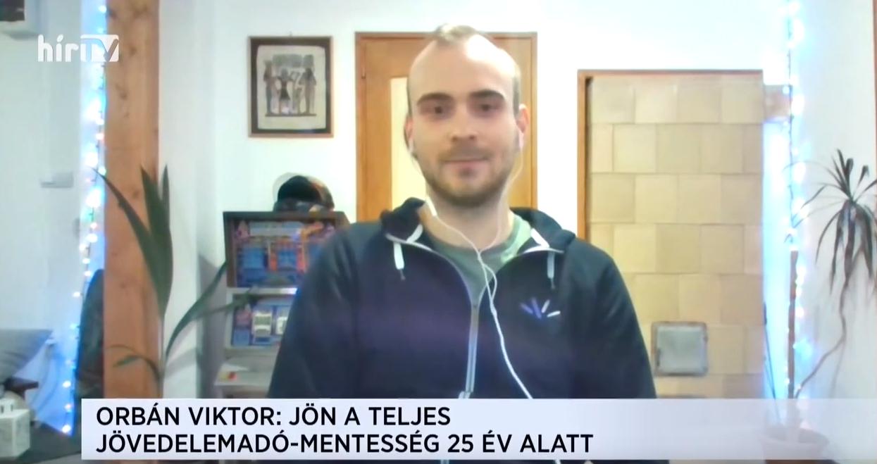 23 éves, dolgozó fiatalt interjúvoltak a HírTV-ben, de elfelejtették közölni, hogy ő a Fidelitas közép-dunántúli vezetője