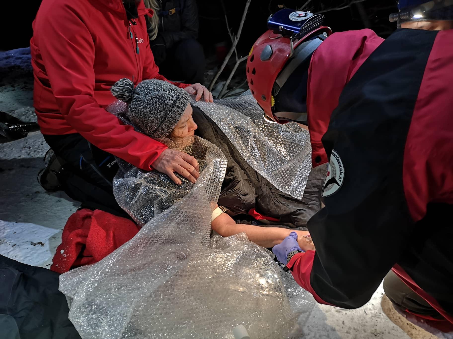 A mentők hoztak le egy sérült túrázót a Pilisből