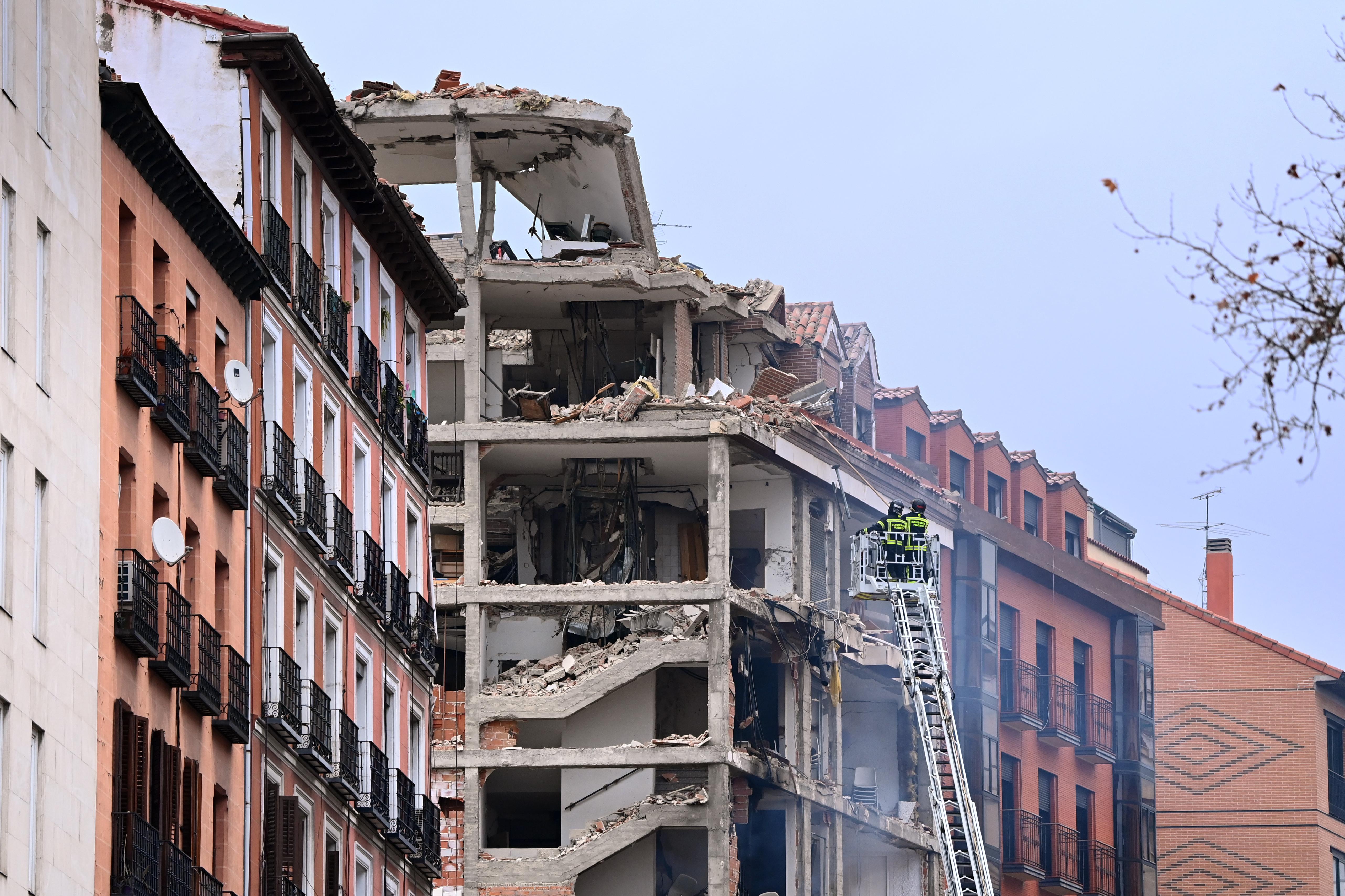Felrobbant egy ház Madrid belvárosában