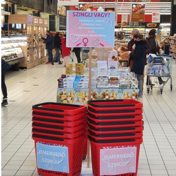 A csömöri Auchanban bevezették a szinglikosarat