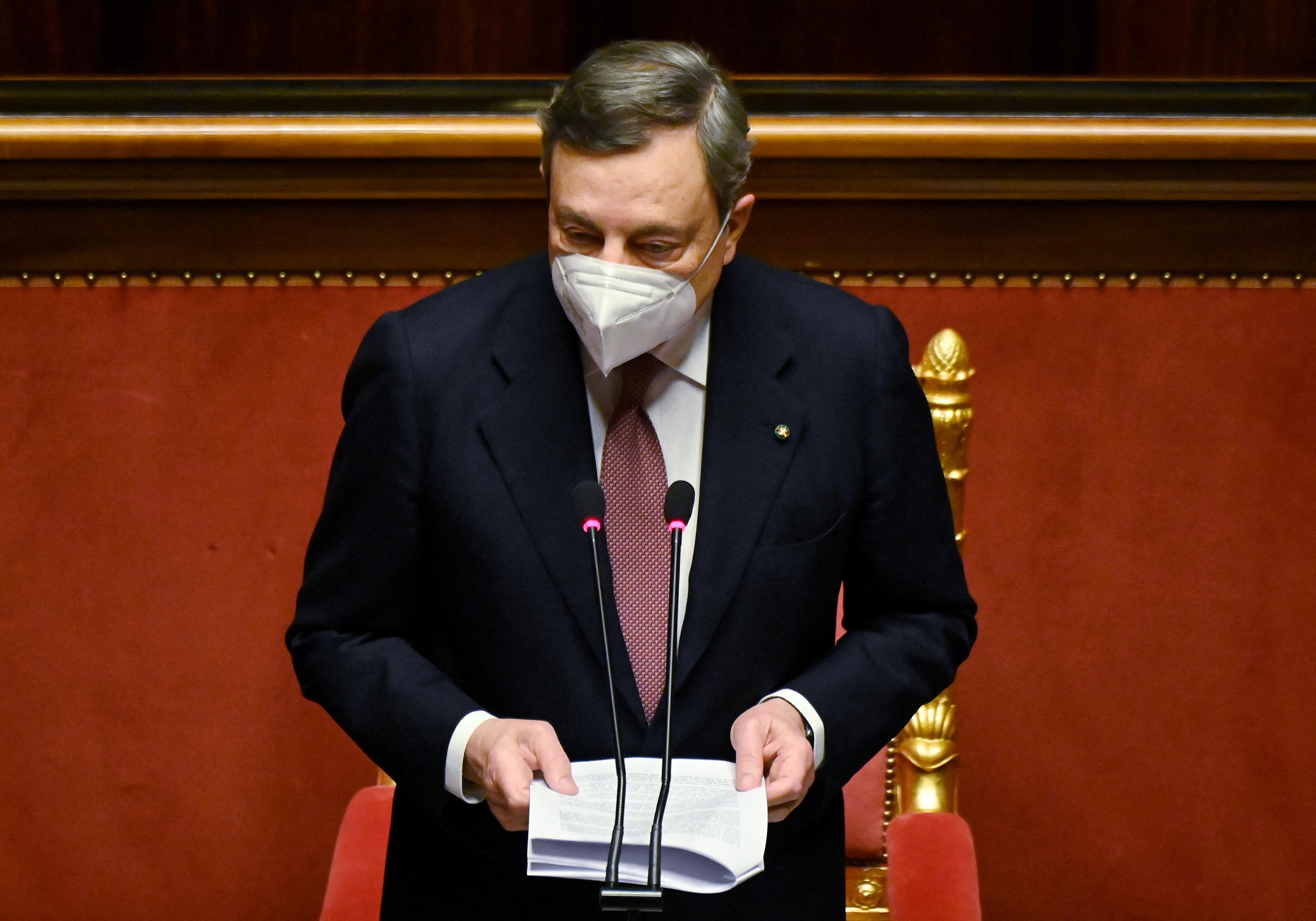Mario Draghi elsöprő reformokat ígér és áldozatvállalásra szólította fel az olasz nemzetet