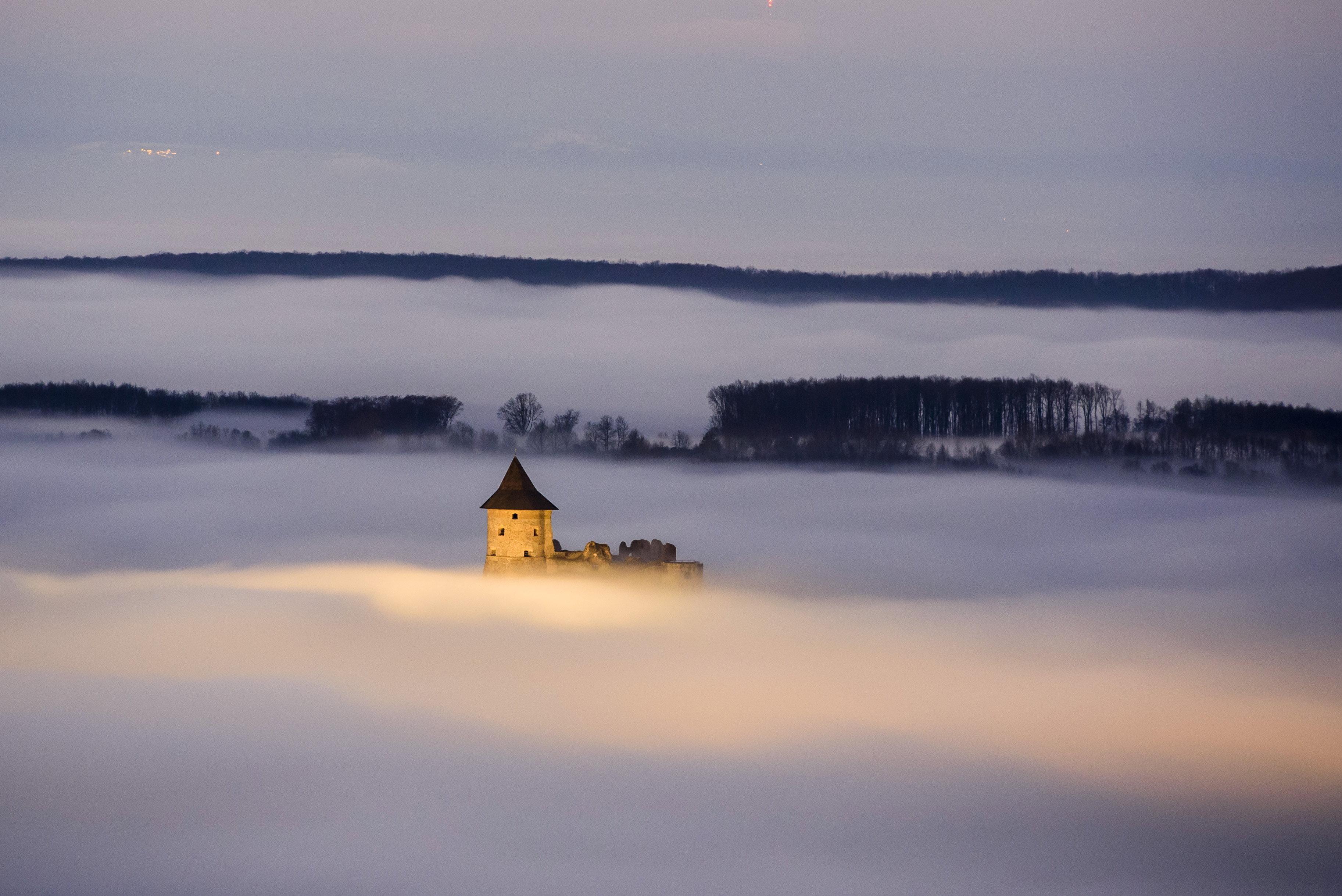 Köd ült Salgótarjánra