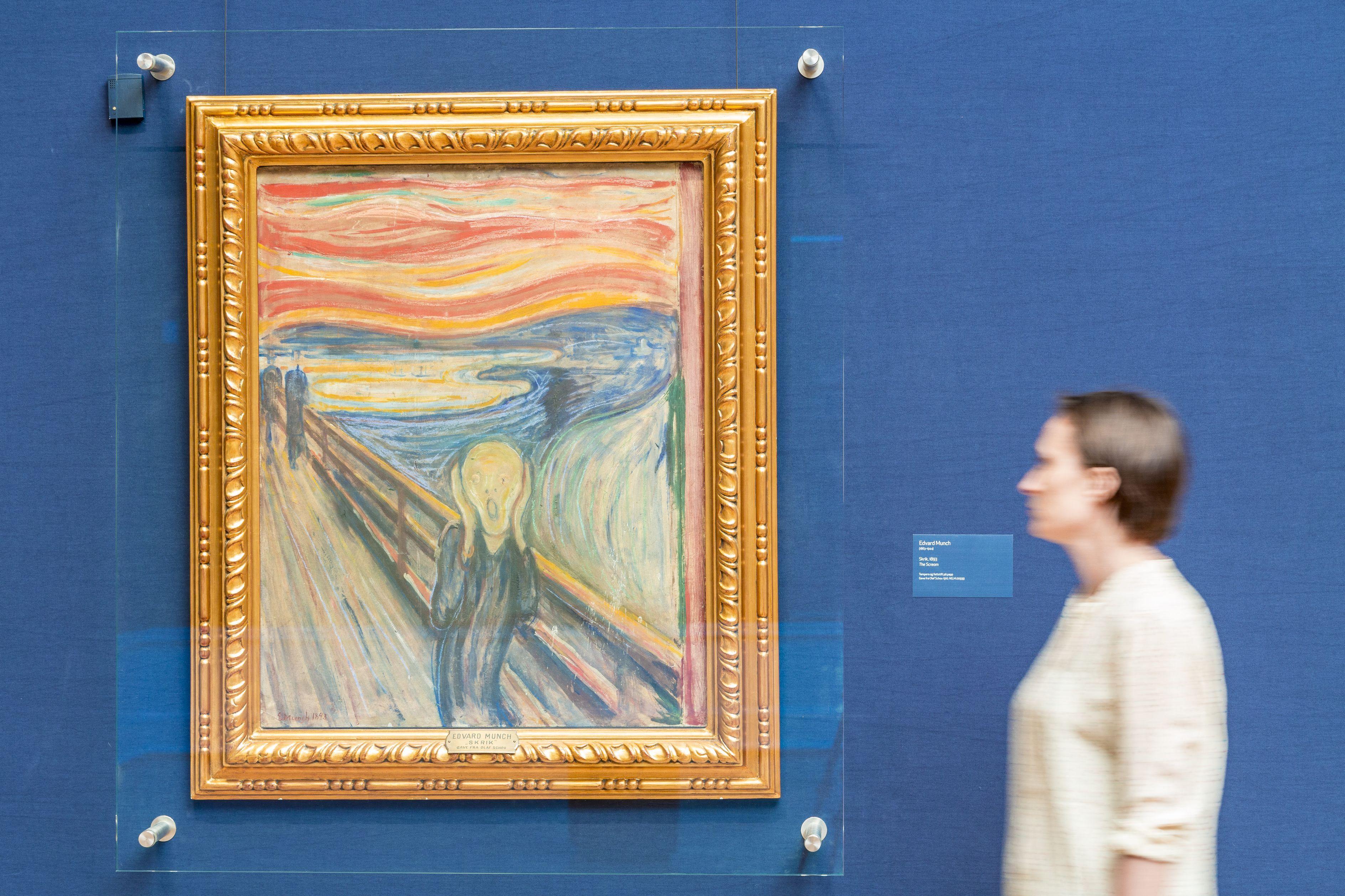 Edvard Munch maga firkálta össze leghíresebb festményét