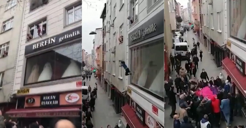 Égő lakás ablakából ejtette ki négy gyerekét egy nő Isztambulban