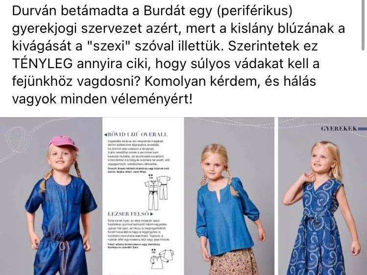 Szexinek nevezte a kislányruhát a divatlap, meglepődtek, hogy balhé lett belőle