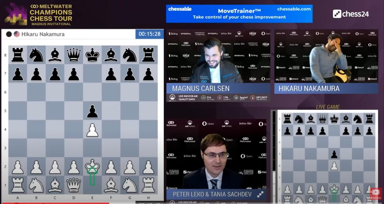 Füves mémmegnyitással indított a világ legjobb sakkozója, a szakkommentátor Lékó Péter is teljesen ledöbbent