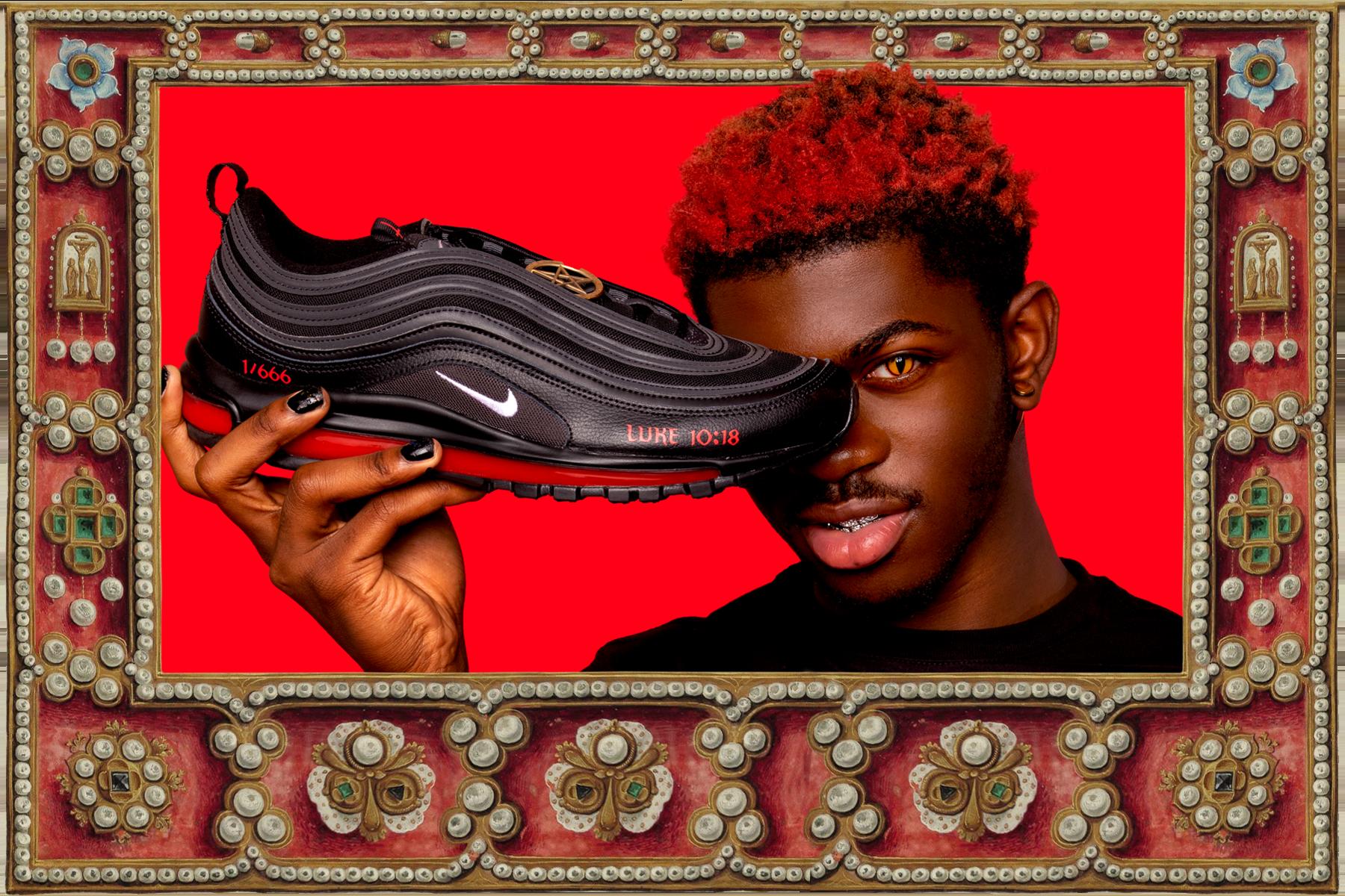 Egy csepp emberi vér is lötyög Lil Nas X sátáni Nike cipőjében