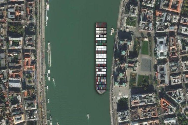 A Balatont nem tudná eltorlaszolni a konténerhajó, de a Dunát igen