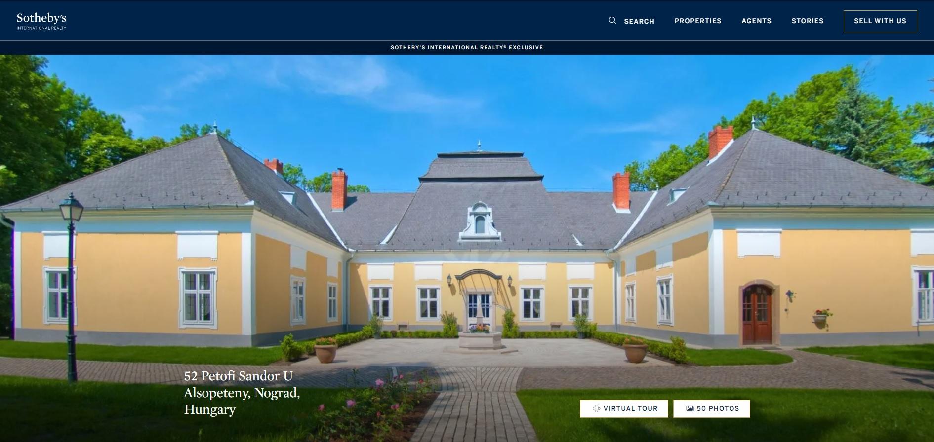 15 milliárd forintért árulják az alsópetényi Prónay-kastélyt