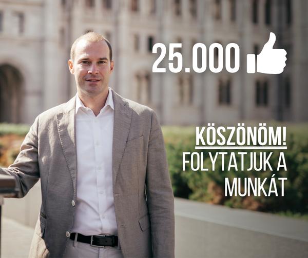 Hollik István a Facebookra posztolt a 25 ezres számról, és megígérte, hogy folytatják a munkát, aztán eltűnt a poszt