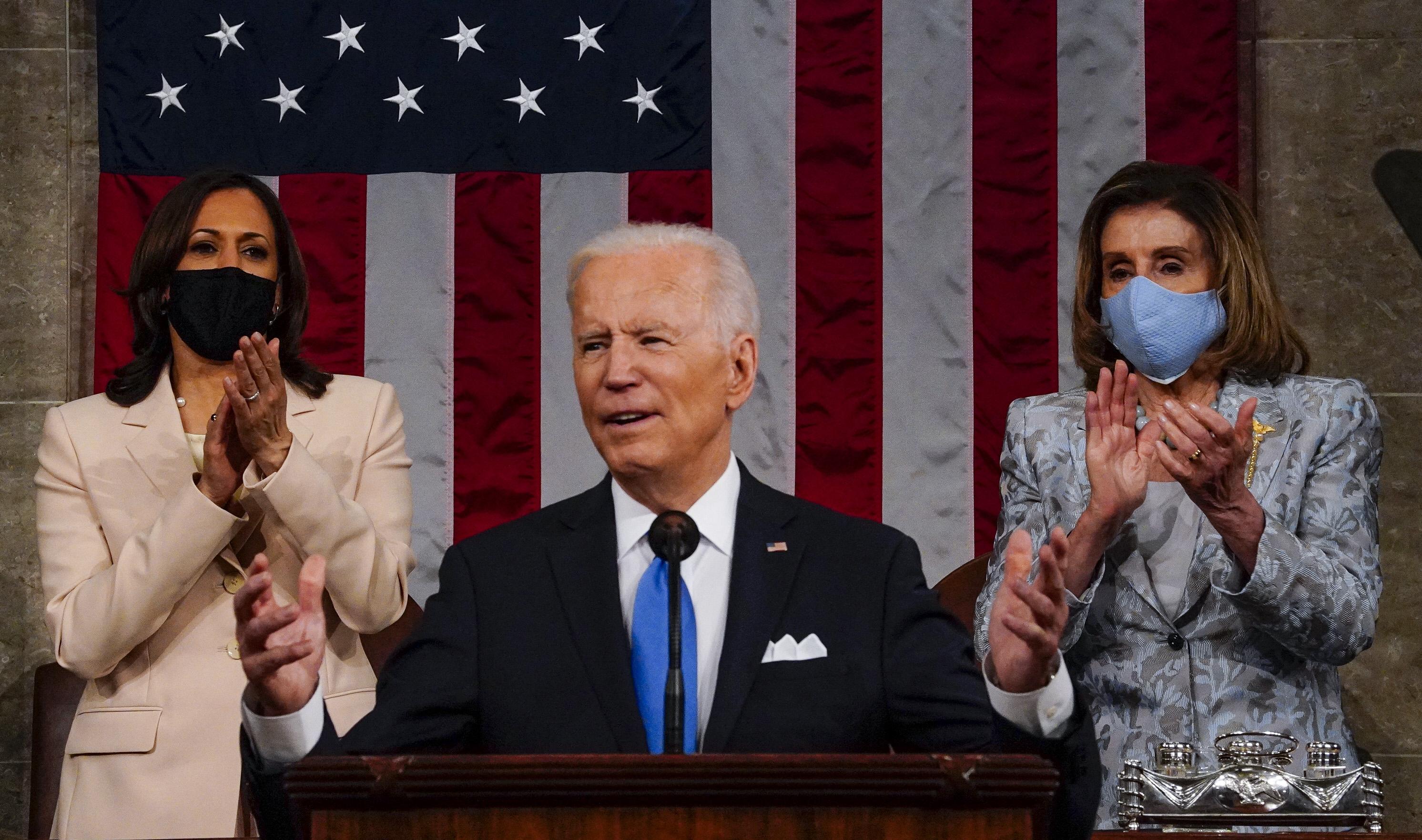 Biden első kongresszusi beszédével rögtön történelmet írt