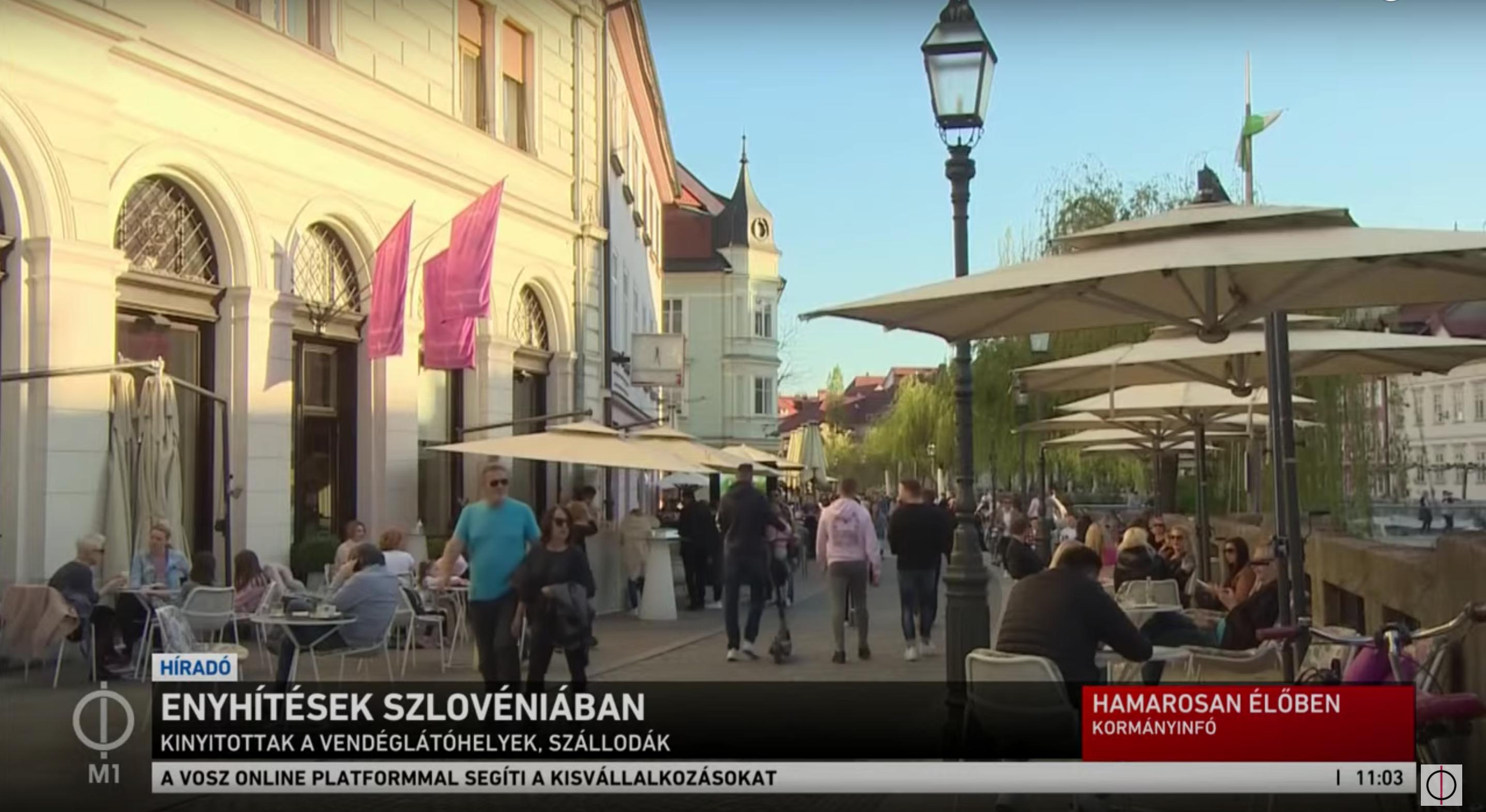 Az M1 beszólt a szlovénoknak, amiért megrohamozták a teraszokat