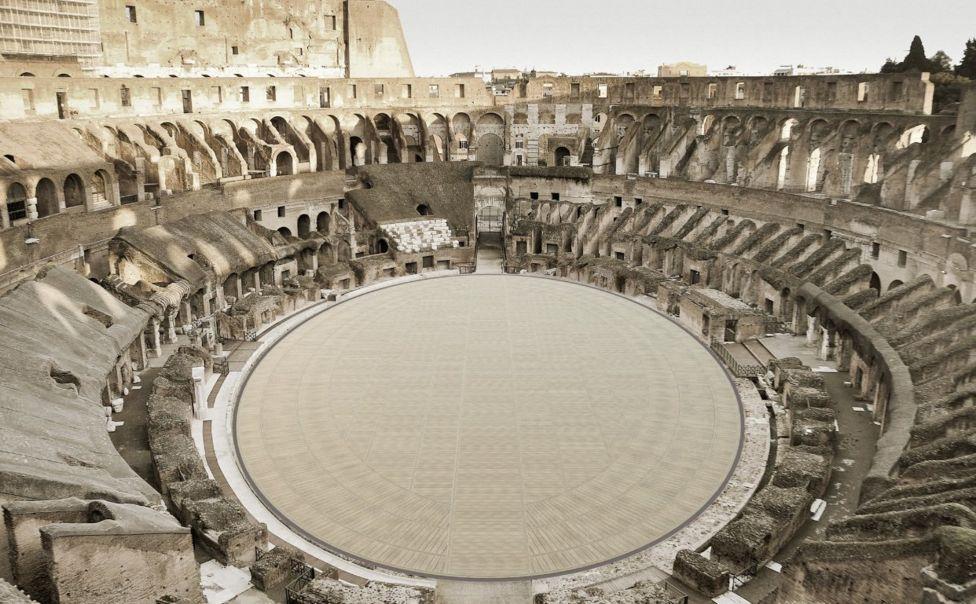 Új padlót építenek a Colosseumba