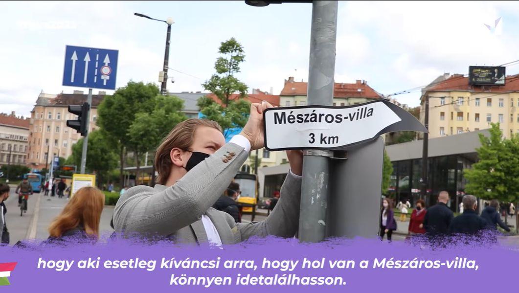 Hajnal Miklós és Fekete-Győr András kitáblázták az utat Mészáros Lőrinc budai villájához