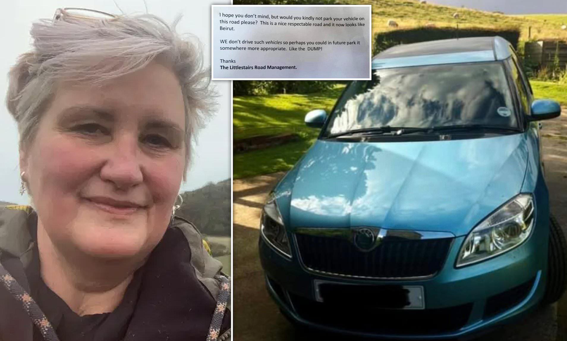 Cetlit kapott a Skodájára a brit nő, hogy ez az autó inkább illik Bejrútba, mint a felkapott környékre