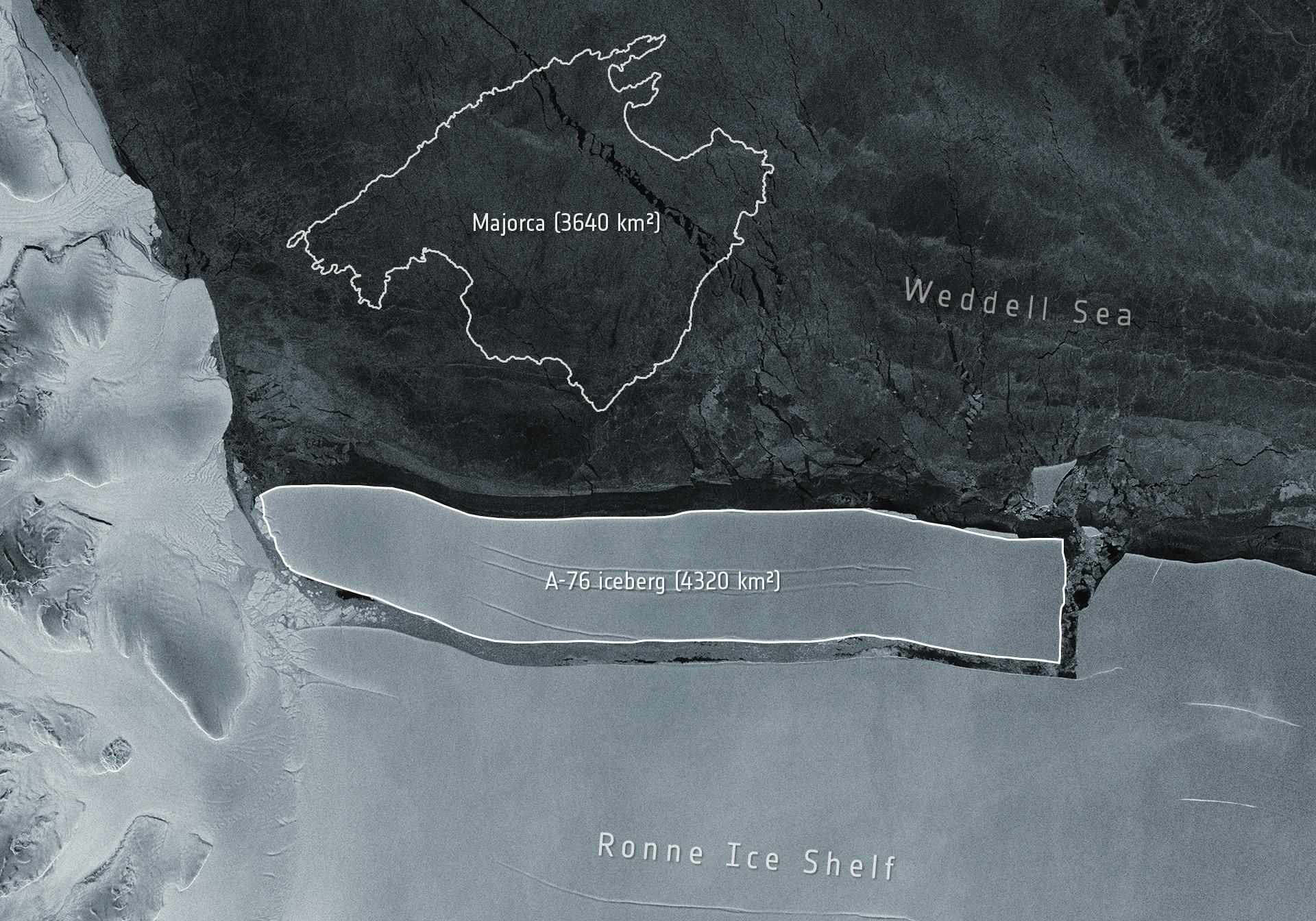 A világ legnagyobb jéghegye vált le a Déli-sarkvidéken