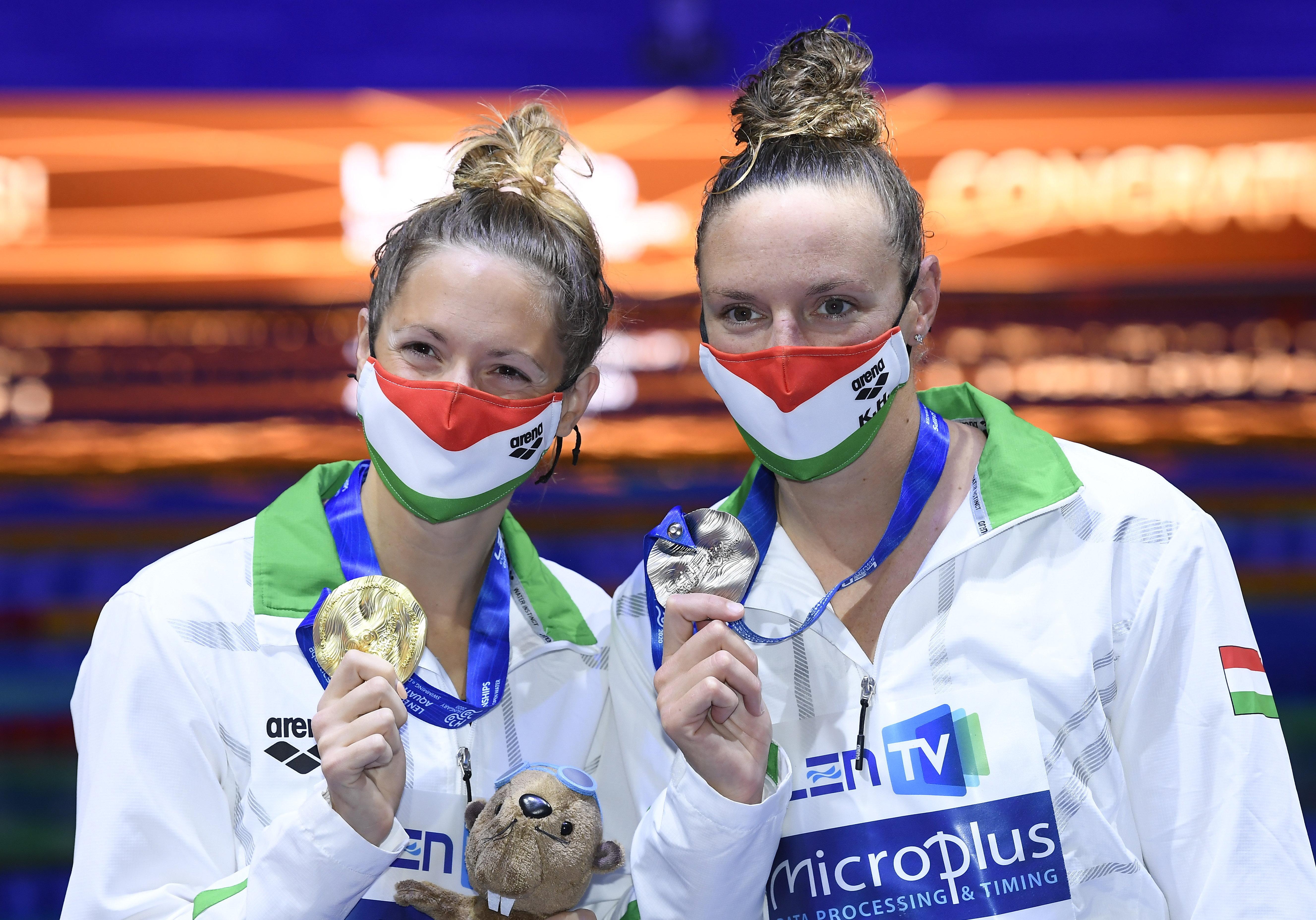 Kapás Boglárka EB-aranyérmes, Hosszú Katinka pedig ezüstérmes