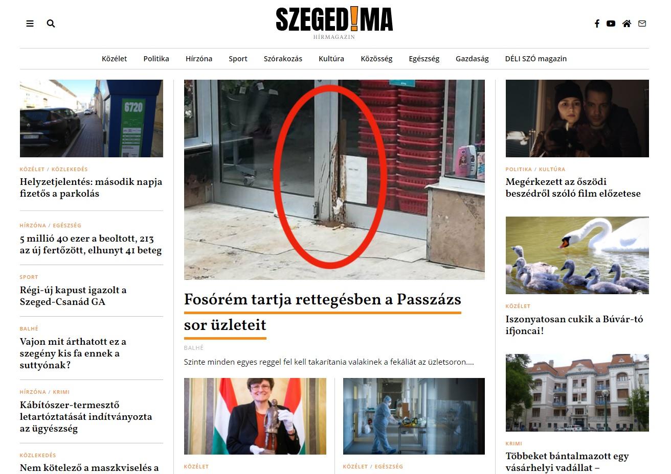 SzegedMa: Mankós fosórém szarja össze a szegedi Passzázs sor üzleteit