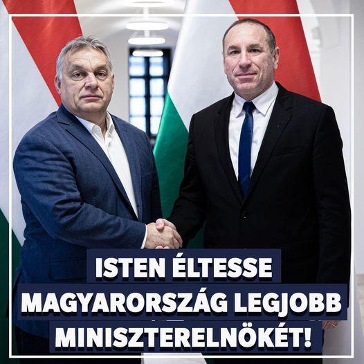 Így köszöntötték a fideszes pionírok az 58 éves Orbán Viktort