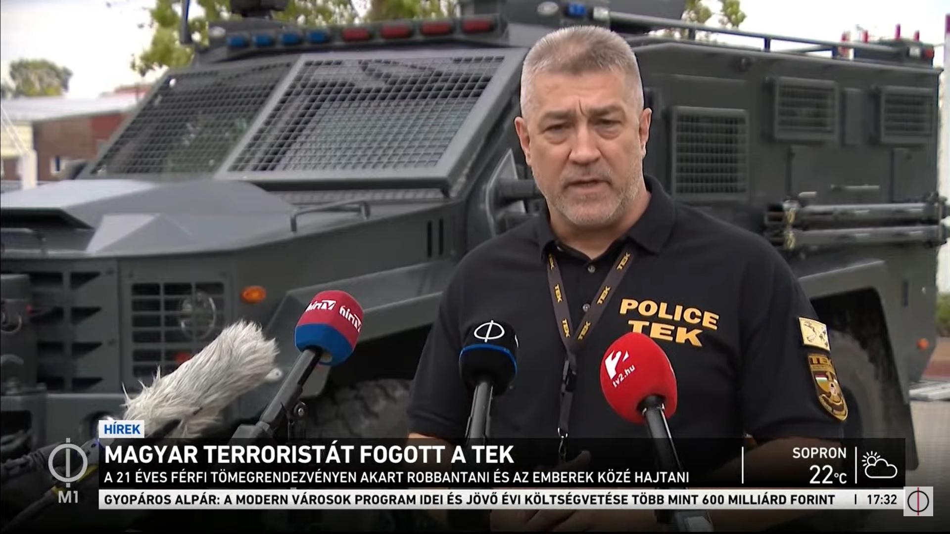 A TEK főigazgatója szerint két terrortámadást akart végrehajtani a Kecskeméten elfogott iszlamista